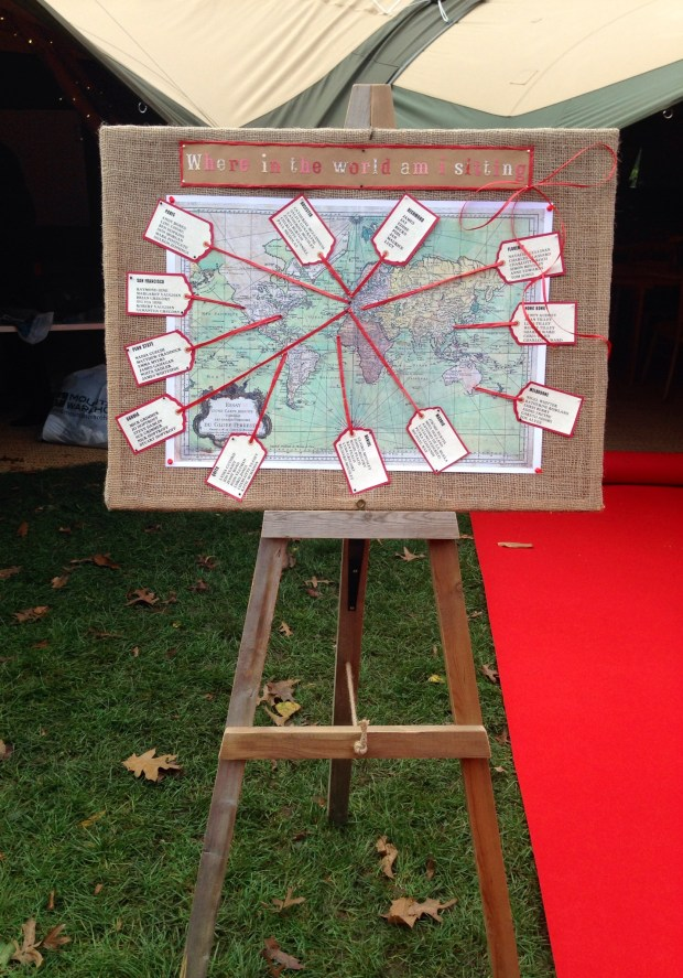 rustic wedding in a tipi seating plan