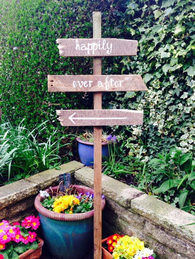 rustic wedding signage Happily ever after sign for wedding made from reclaimed wood