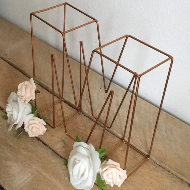 Floral wire letters