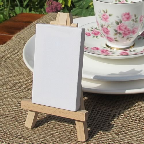 Mini wooden easel and board