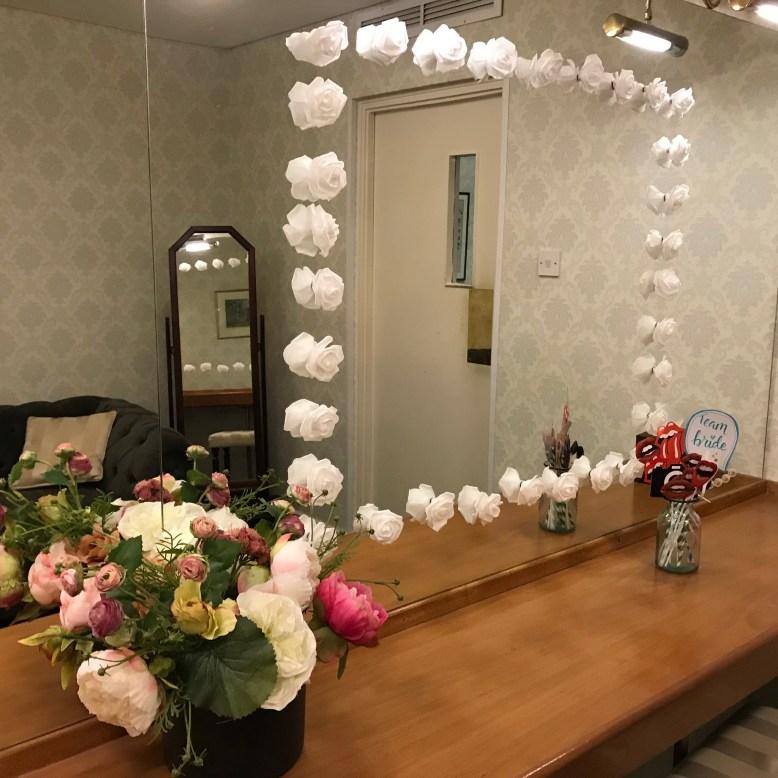 Floral frame for mirror