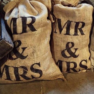 Mr & Mrs sacks £3.00