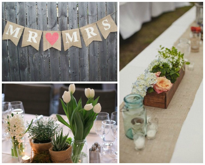 Ideas With Hessian I Do Inspirations Wedding Venues