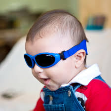 Baby wearing Baby Wrapz, Blue frame