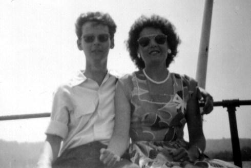 Ron & Iris – wearing stylish hand-made sunglasses in 1954
