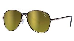 Kids I - IE68038, Gold frame aviator kids sunglasses with Revo mirror lens
