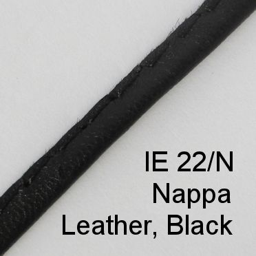 IE 22/N - Nappa Leather cord, Black