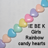 IE BE K - Girls Rainbow candy hearts chain