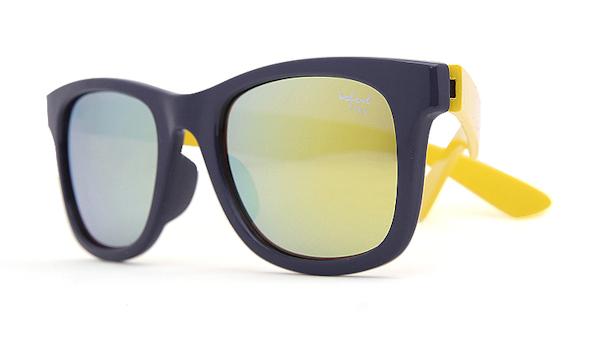 Kids I - IE9011, Navy & yellow frame kids sunglasses with Revo mirror lens