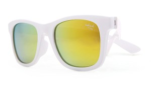 Kids I - IE9011, White frame kids sunglasses with Revo mirror lens