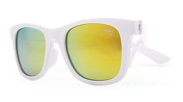 Kids I - IE9011, White frame kids sunglasses with Revo mirror lens