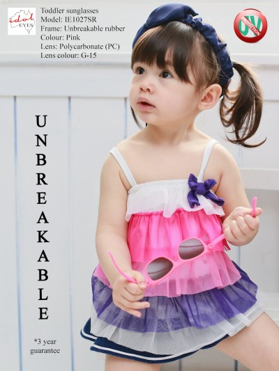 Tiny Tots I - IE1027SR, Toddler putting sunglasses in a stress test