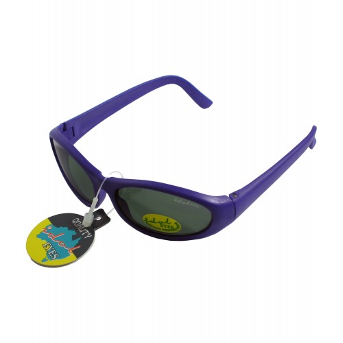Tiny Tots II - IE88, Purple frame traditional wraparound toddler sunglasses