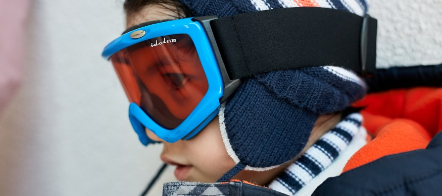 Boy wearing Idol Eyes Australia ski goggles