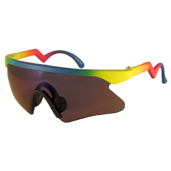 Kids II - IE 735CSX, Neon rainbow frame kids blade sunglasses