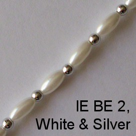 IE BE 2, White & silver spectacle chain