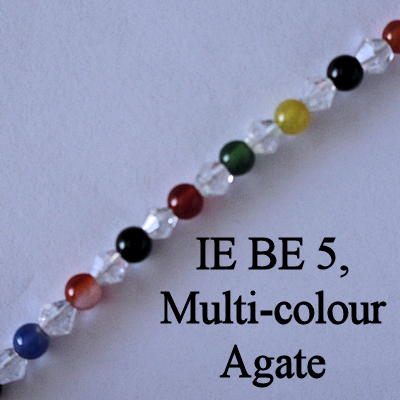 IE BE 5, Multi-colour Agate spectacle chain