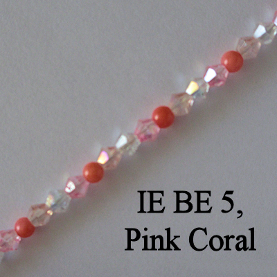 IE BE 5, Pink Coral spectacle chain