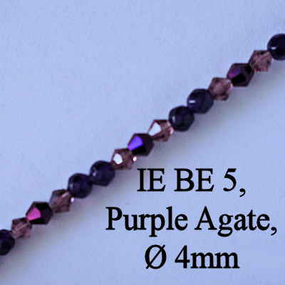 IE BE 5, Purple Agate, Ø 4mm spectacle chain