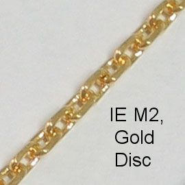 IE M2, (Disc) Gold spectacle chain