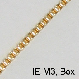 IE M3, (Box) gold spectacle chain