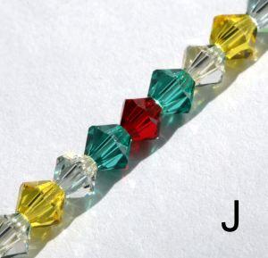 Swarovski crystal spectacle chain - style J