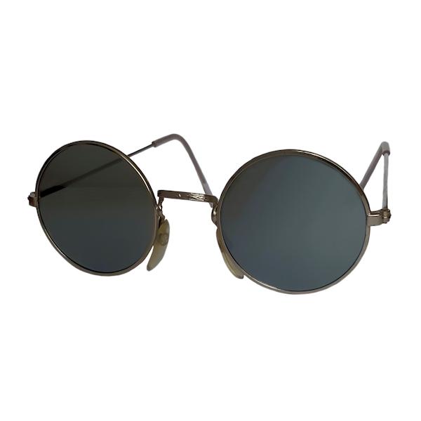 IE 056 Silver mirror, Classic metal round sunglasses