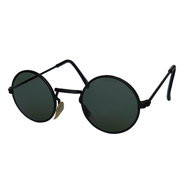 IE 059 Black, Classic metal round sunglasses