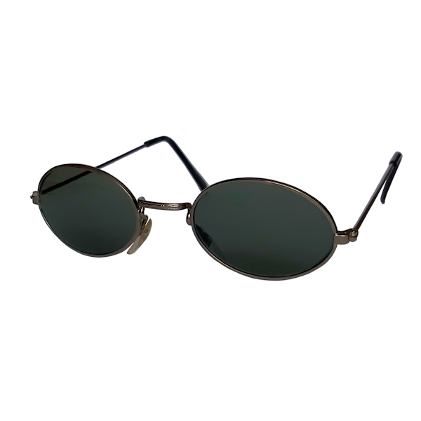 IE 054 Antique Silver, Classic metal oval sunglasses