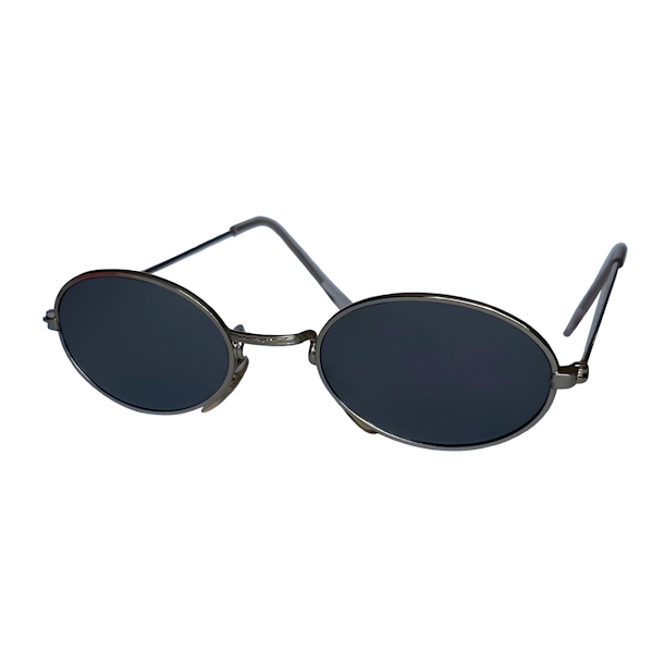 IE 054 Silver Mirror, Classic metal oval sunglasses