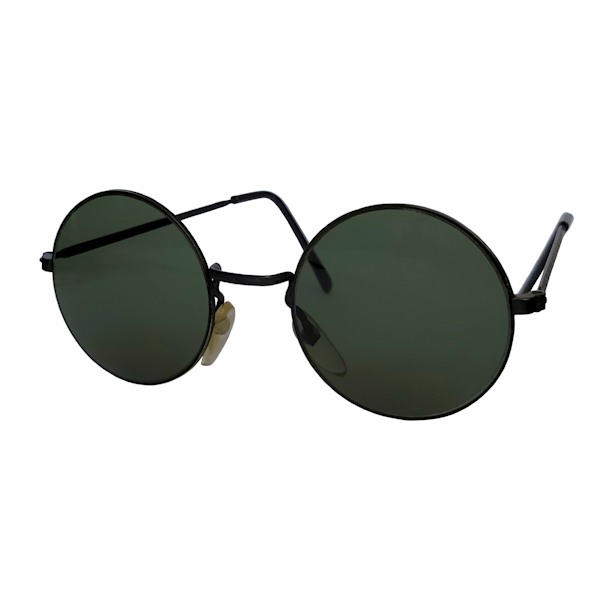 IE 141 Black, Classic metal round sunglasses