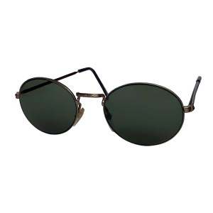 IE 142 Antique Silver, Classic metal oval sunglasses