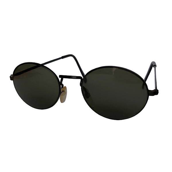IE 142 Black, Classic metal oval sunglasses