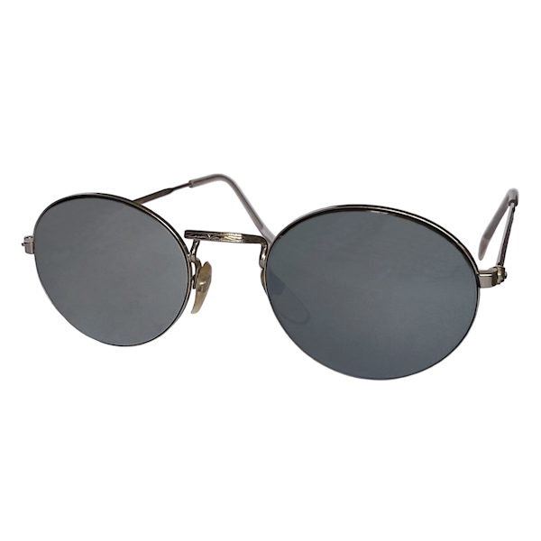 IE 142 Silver mirror, Classic metal oval sunglasses