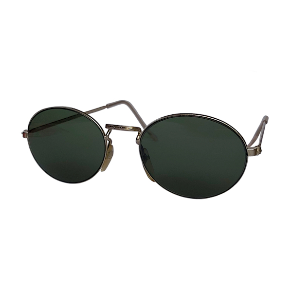 IE 142 Silver, Classic metal oval sunglasses
