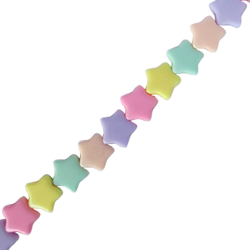 IEBEK Girls Rainbow Candy Stars Bead Spectacle Chain