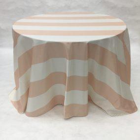 Peach Broadway Stripe_I Do Linens
