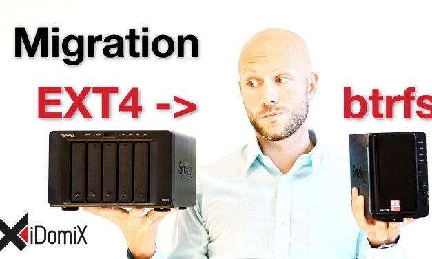 Meine Migration zu btrfs von EXT4 der Synology DiskStation | 4K | iDomiX