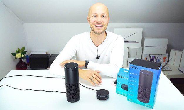 Amazon Echo &  Echo Dot Alexa ausgepackt & ausprobiert