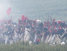 The French advance of the Imperial Guard