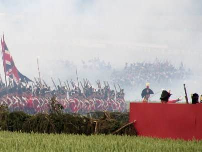 Allies march past Hougoumont