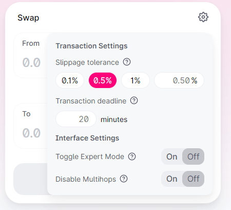 To Adjust Slippage Tolerance at UniSwap