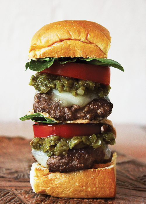 Double Green Chile Slider