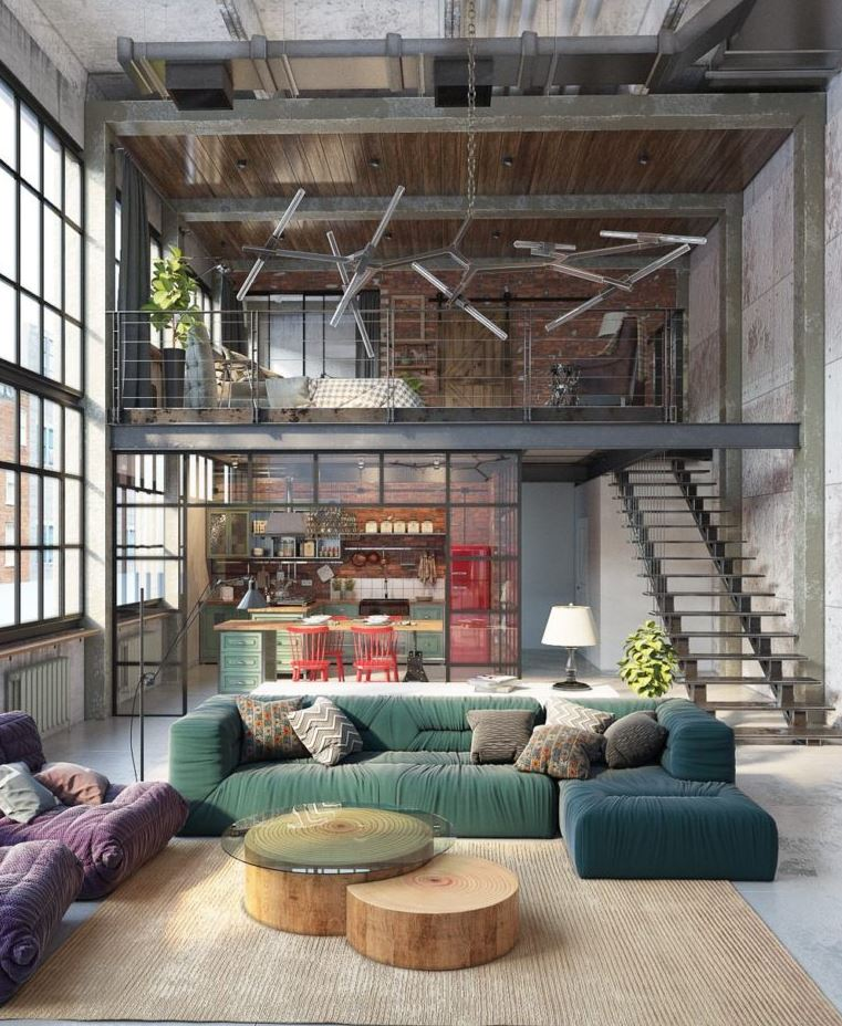 Industrial Studio Apartment