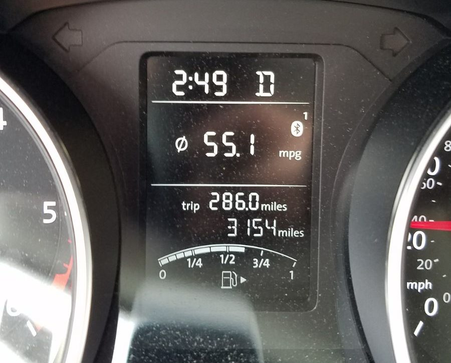 55mpg on a 2015 Jetta TDI DSG