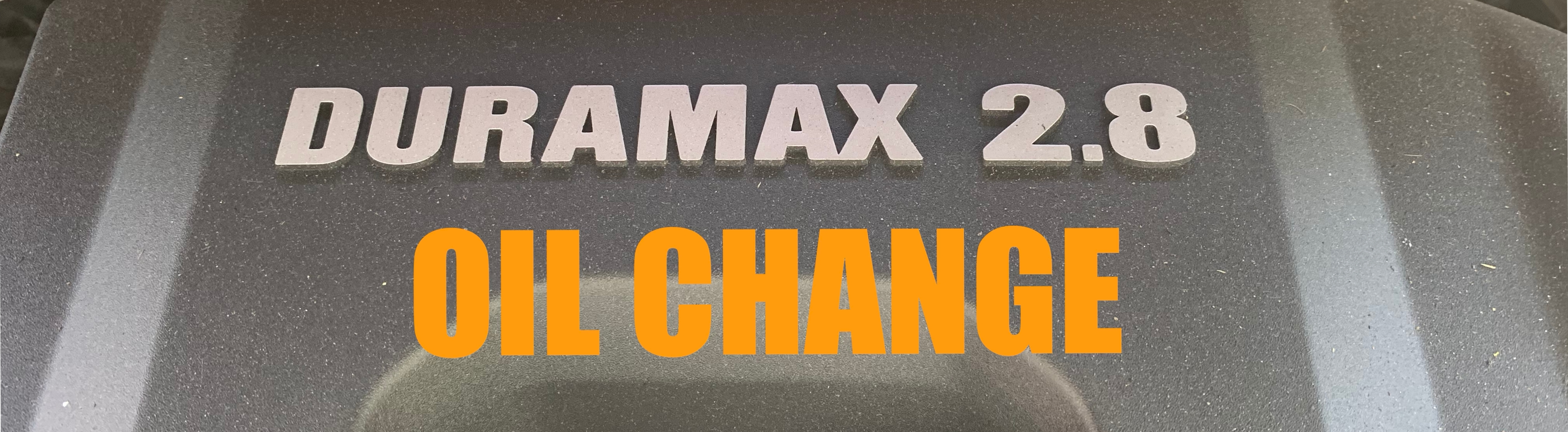 How-to: Duramax LWM 2 8L Oil Change Colorado & Canyon