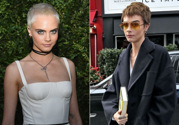 Cara Delevigne muda o visual (Foto: Getty Images/AKM)