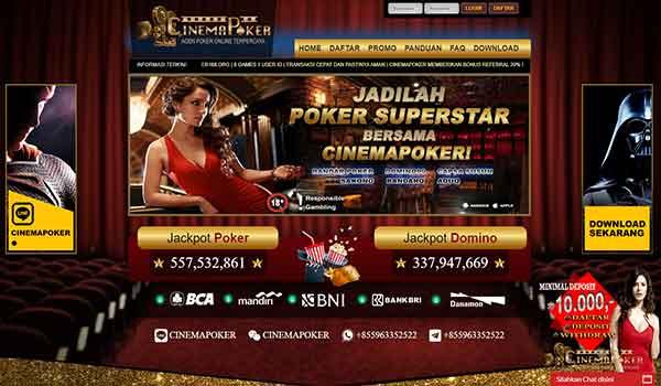 Cinemapoker 2 - Bandar Sakong Online Mudah Menang dan Mudah Jackpot