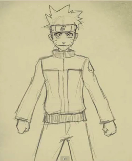 How to draw Naruto Uzumaki - drawing and digital painting ...