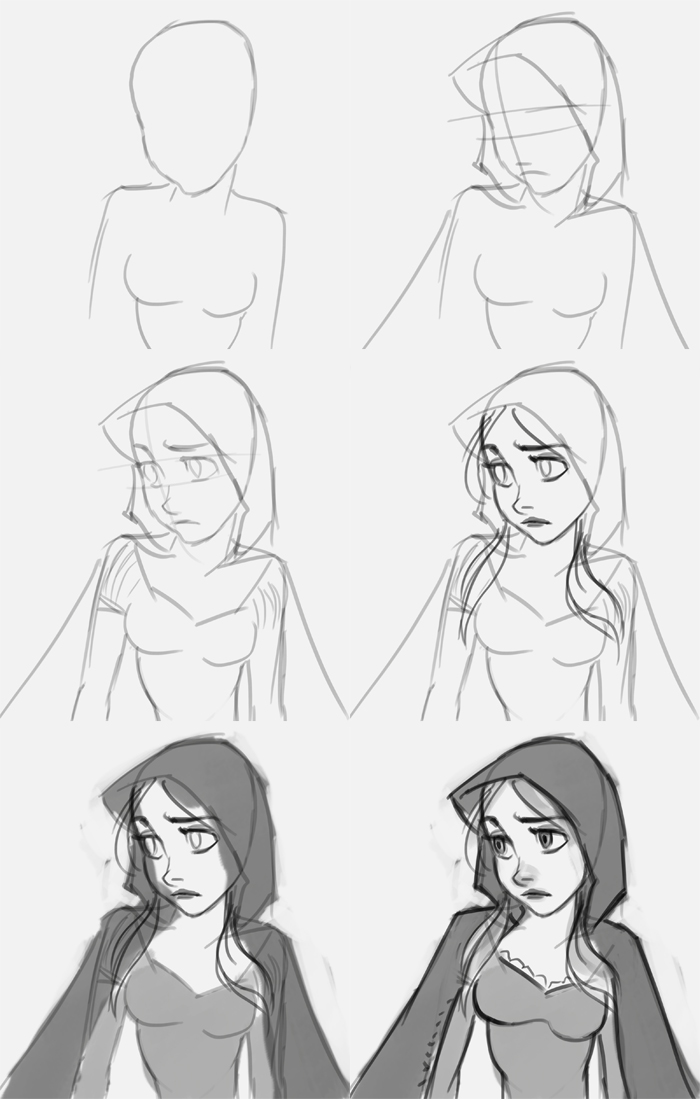 How To Draw A Hood Down : Riding, Drawing, Digital, Painting, Tutorials, Online